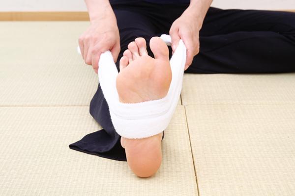 足裏の乾布摩擦